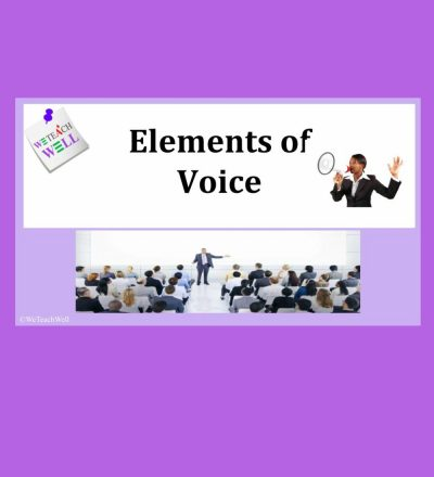 Elements of voice in English