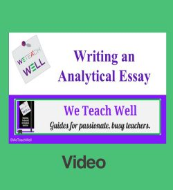 Teaching essay writing.